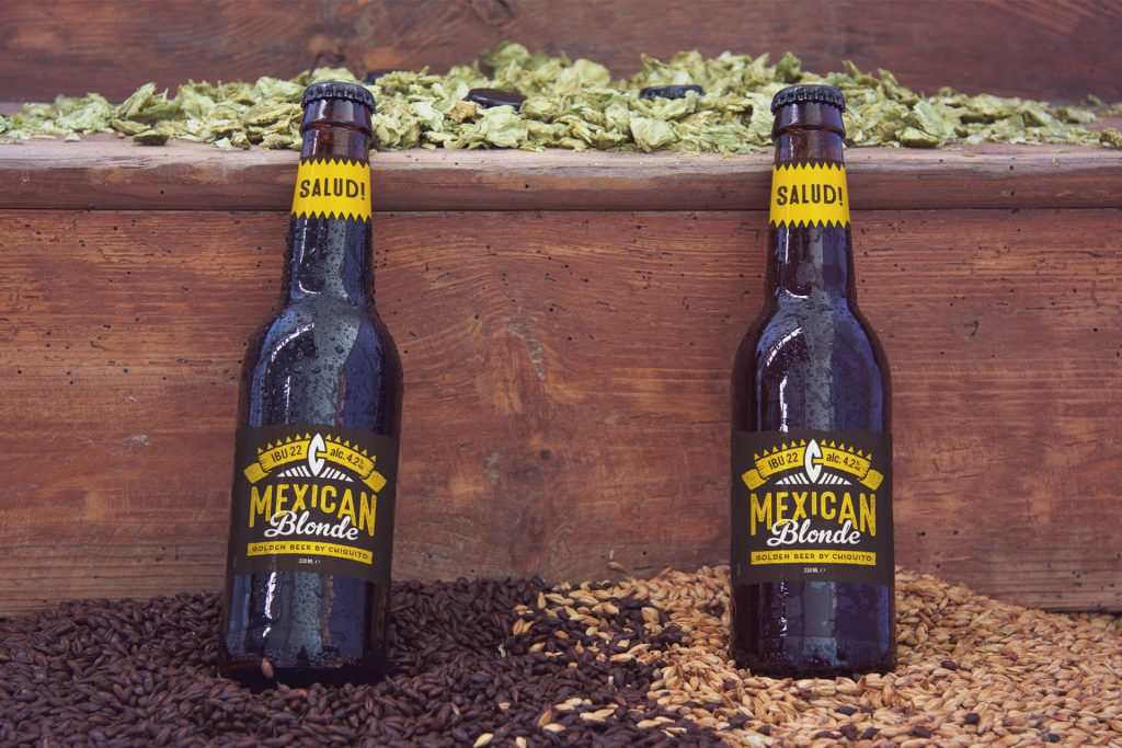 chiquito Mexican blonde golden beer