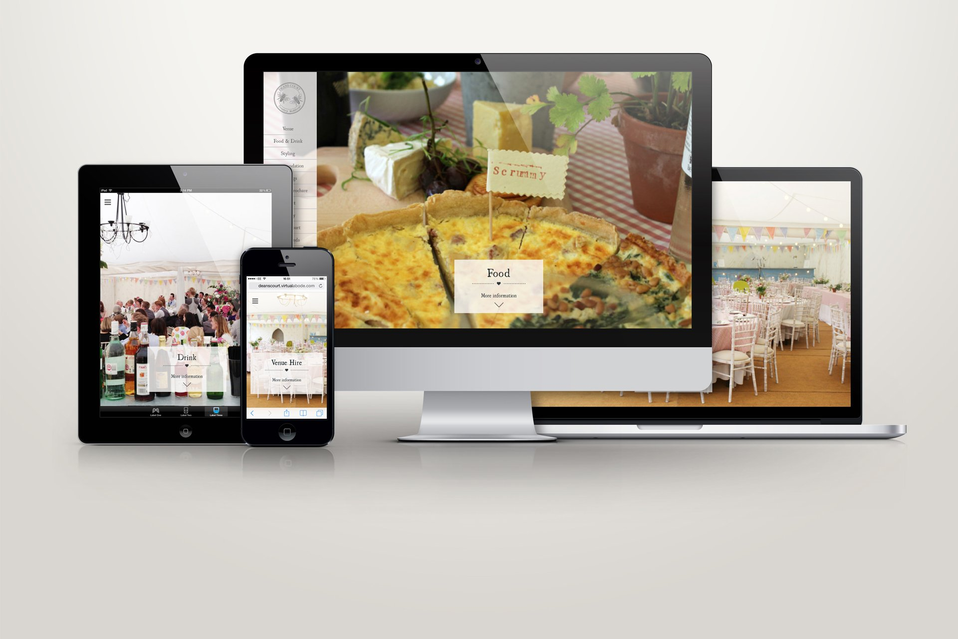 Deans Court Estate website on all devices
