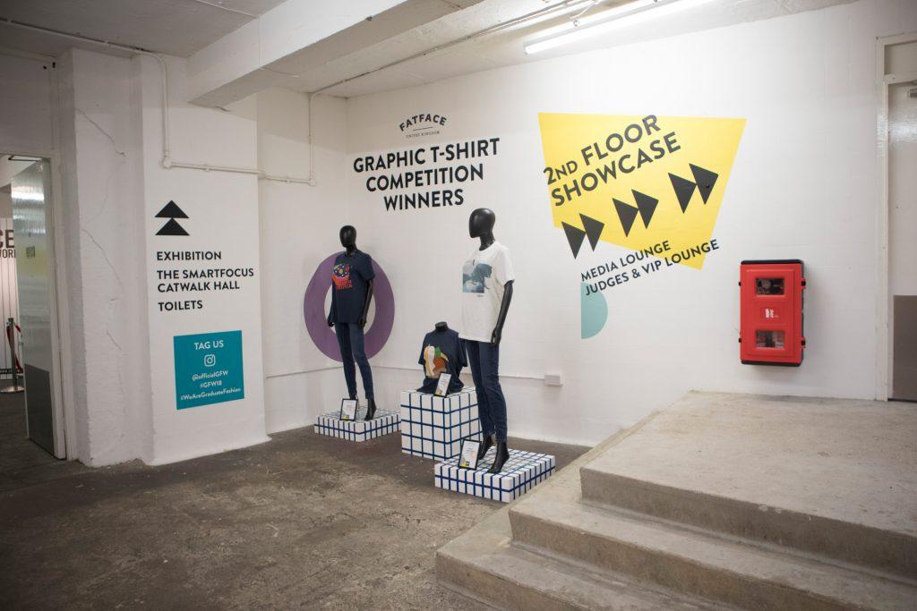 Graduate Fashion Week 2018 fat face installation