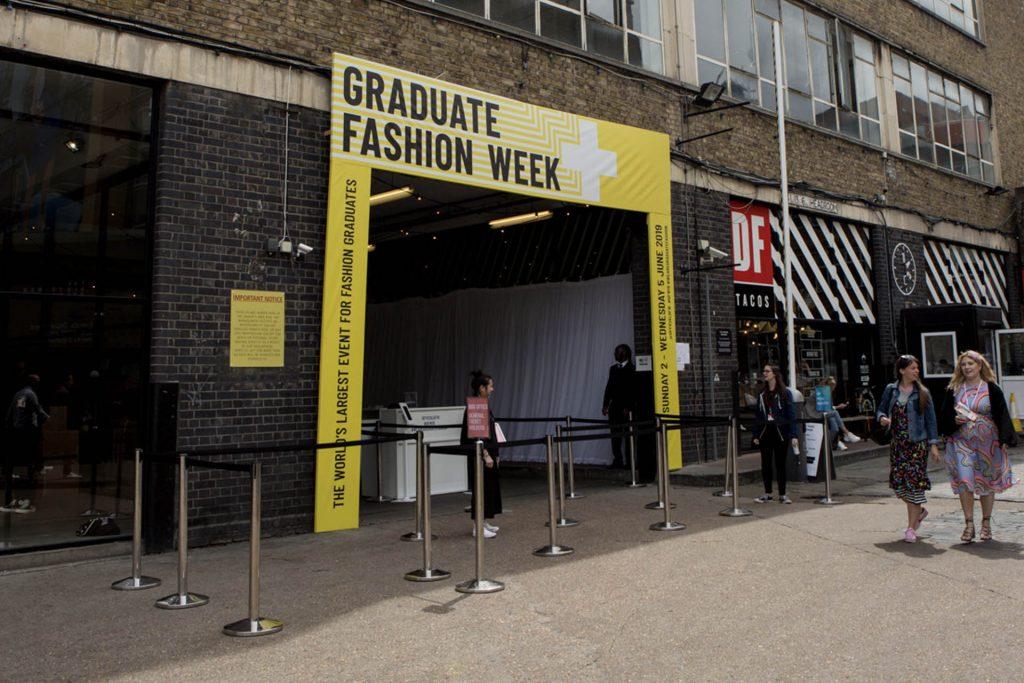 Graduate Fashion Week Truman brewery entrance PVC canvas banner