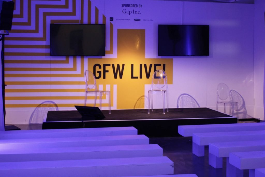 Graduate Fashion Week 2019 GFW Live talk space wall vinyls