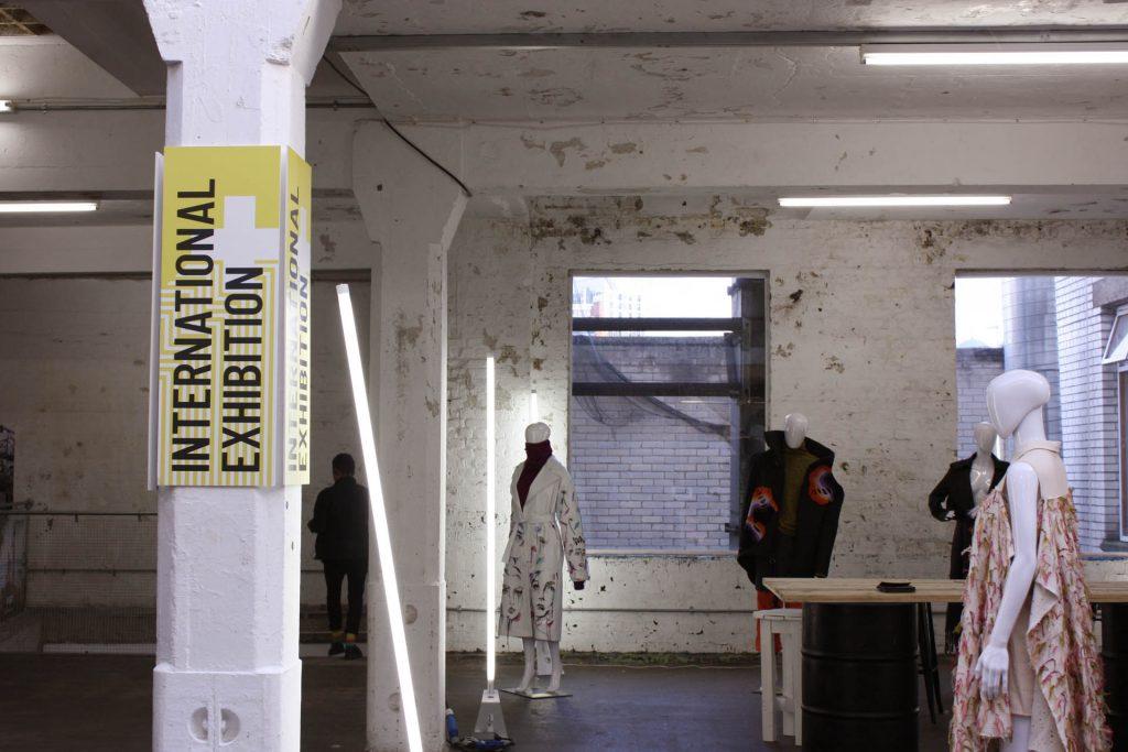 international universities exhibition area pillar signage