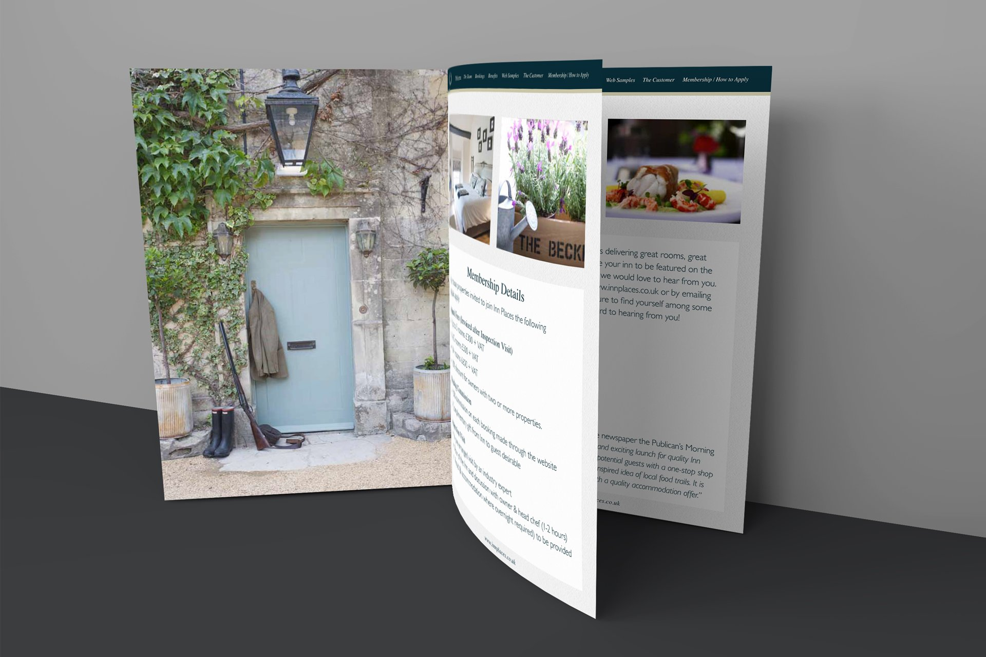 A5 printed new business brochure
