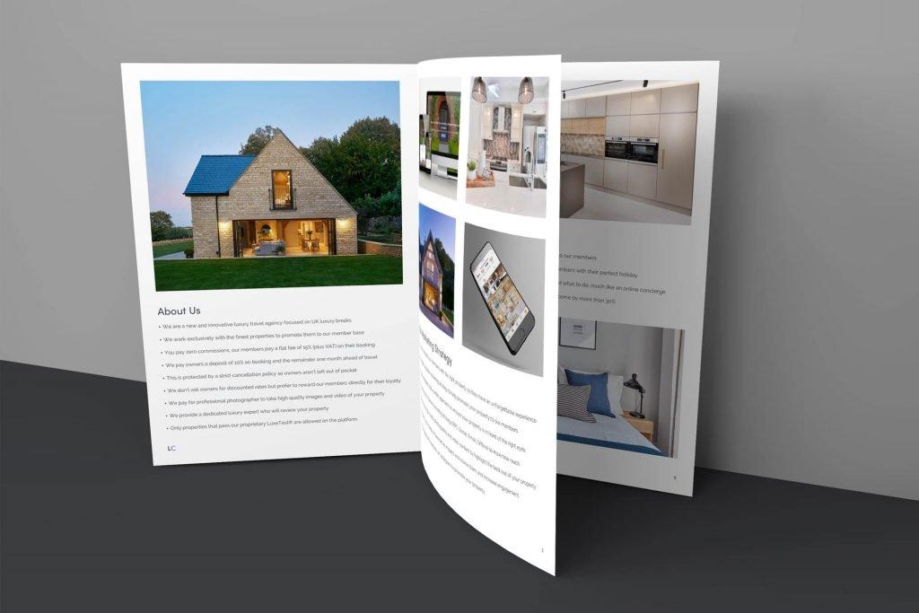 luxury cottages promotional brochure