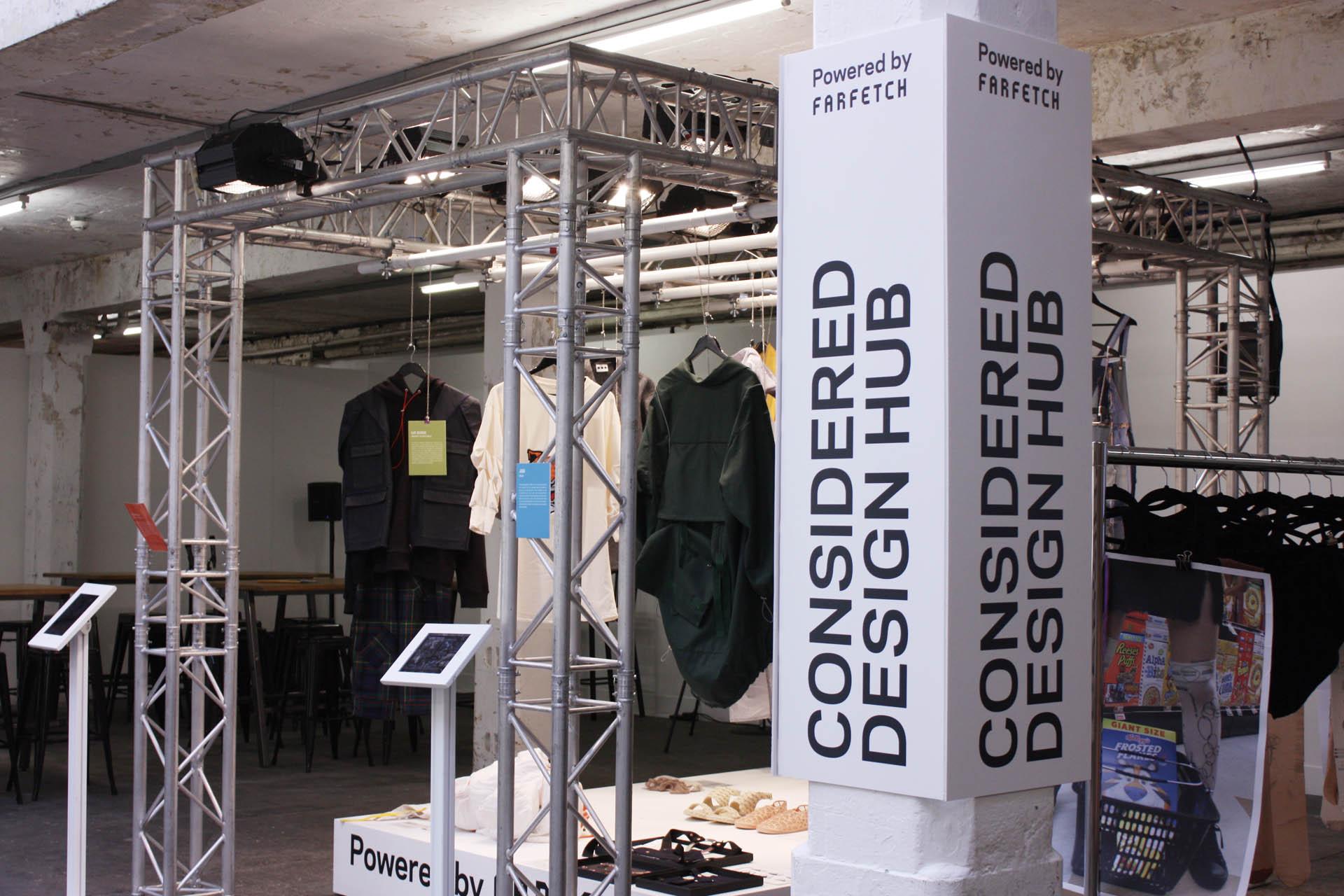 considered design hub powered by farfetch pillar signage work