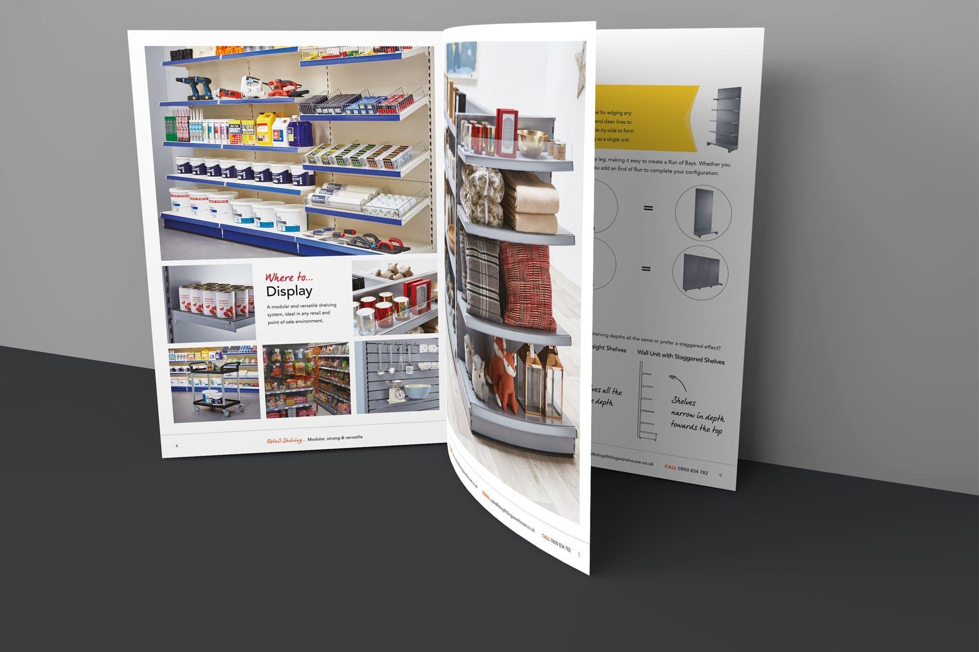 Shopfitting Warehouse seasonal retail brochure