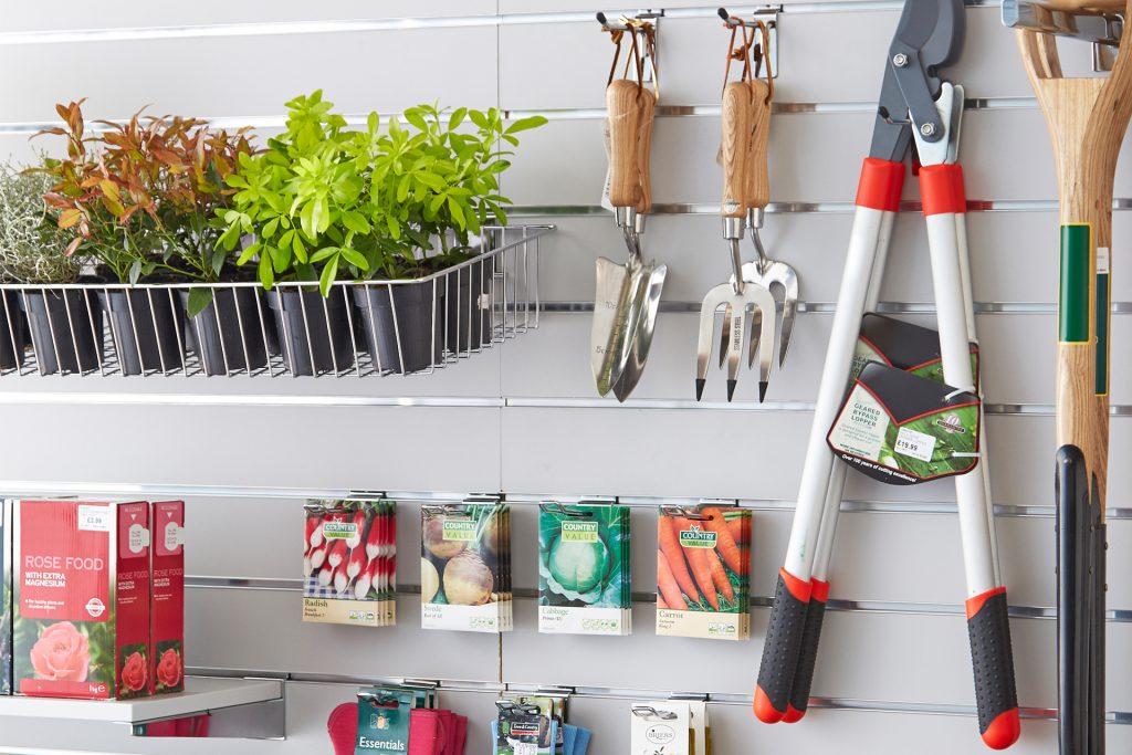 Shopfitting Warehouse garden centre slatwall image photography
