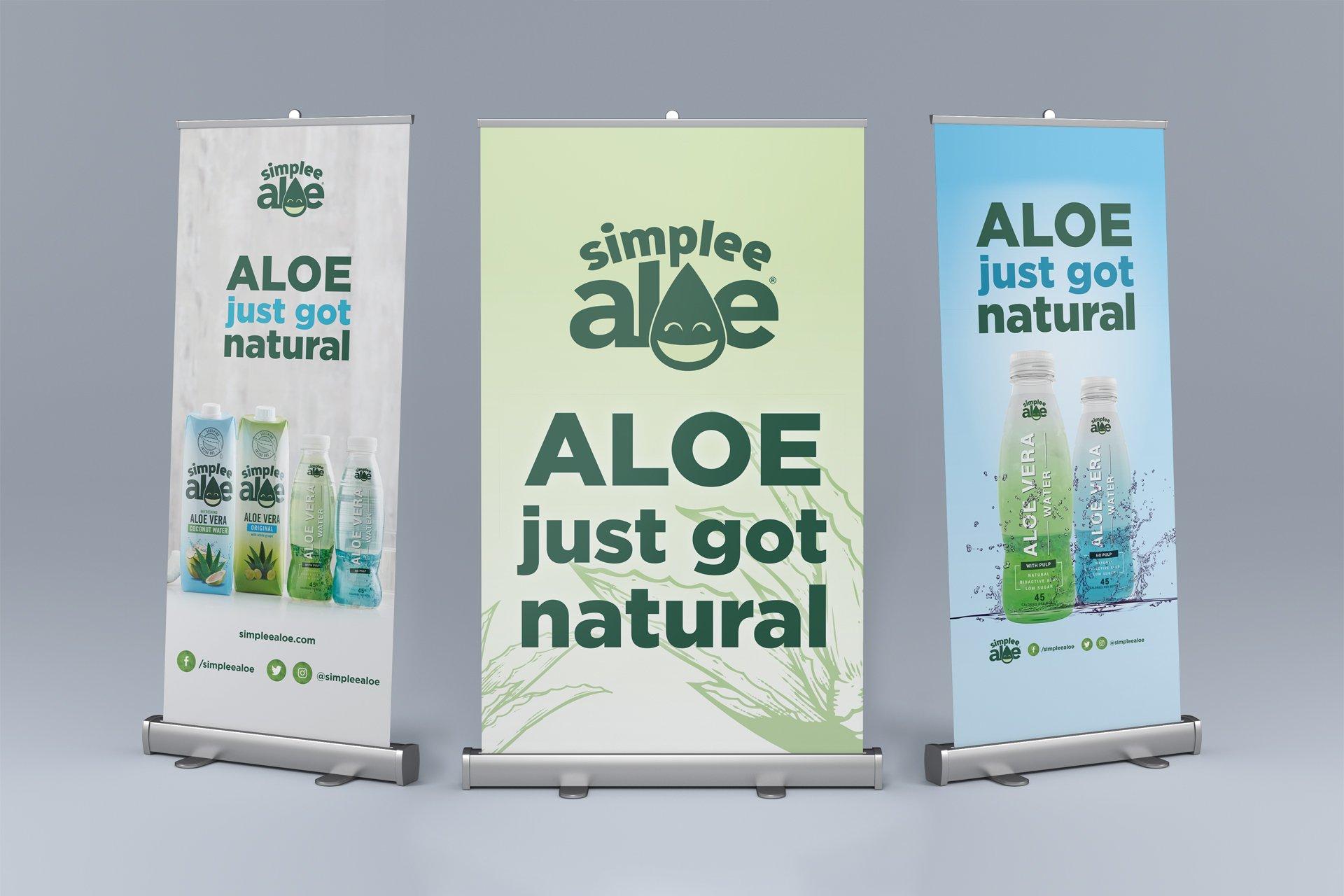 simplee aloe event signage