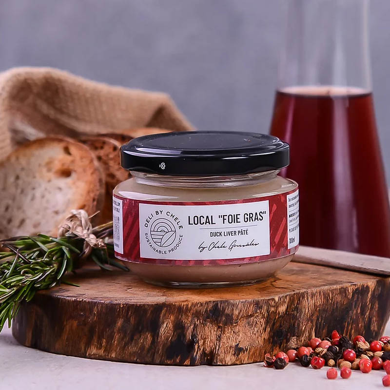 deli by chele foie gras packaging